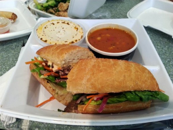20140520_Saladworks-Marinated_Asian_Steak_Sandwich-Tomato_Roasted_Corn_Soup_Combo